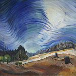 "Emily Carr, ""Above the Gravel Pitt"", courtesy of the Vancouver Art Gallery."